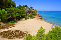 Cala dels vienesos beach in miami platja spain view of playa mont roig del camp Stock Photos