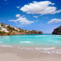 Cala en porter beautiful beach in menorca at balearics balearic islands of spain Royalty Free Stock Photography