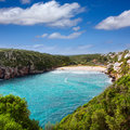 Cala en porter beautiful beach in menorca at balearics balearic islands of spain Royalty Free Stock Photos
