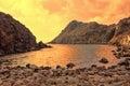 Cala Fico  - San Pietro's island - Italy Royalty Free Stock Photo