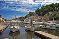 Cala Figuera Dock Royalty Free Stock Images