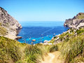 Cala figuera majorca the bay in the north of the island Stock Photography
