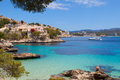 Cala fornells view in paguera majorca spain Royalty Free Stock Images