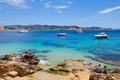 Cala fornells view in paguera majorca spain Royalty Free Stock Photos