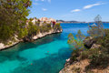 Cala fornells view in paguera majorca spain Royalty Free Stock Photo