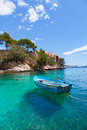 Cala fornells view in paguera majorca spain Stock Photo