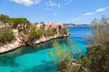 Cala fornells view in paguera majorca spain Stock Photos