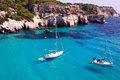 Cala Macarella beach in Menorca, Spain Royalty Free Stock Images