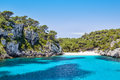 Cala macarelleta one of the most popular natural beaches of menorca island spain Stock Photography