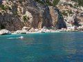 Cala Mariolu beach in Sardinia - Italy Royalty Free Stock Photos
