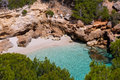 Cala mitjaneta in menorca ciutadella at balearics balearic islands Royalty Free Stock Photography