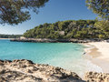 cala mondrago in majorca coast Royalty Free Stock Photo