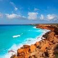 Cala Saona coast with turquoise Mediterranean