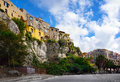 Calabria tropea city italian area street and historic architecture Royalty Free Stock Photography