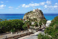 Calabria tropea city the south italy area church of Stock Photography