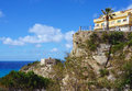 Calabria tropea city the south italy area church of Royalty Free Stock Photography