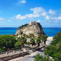 Calabria tropea city the south italy area church of Royalty Free Stock Images