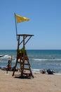 CALAHONDA, ANDALUCIA/SPAIN - JULY 2 : Lifeguard on Duty at Calah Royalty Free Stock Photo