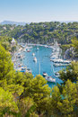 Calanque of port miou in cassis france Royalty Free Stock Images