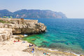Calanques in cassis french riviera Royalty Free Stock Image