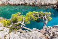 Calanques near marseille and cassis in france south of Stock Photo