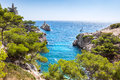 Calanques near marseille and cassis in france south of Stock Images