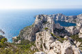 Calanques near marseille and cassis in france south of Stock Image