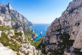 Calanques near marseille and cassis in france south of Stock Photos