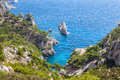 Calanques near marseille and cassis in france south of Royalty Free Stock Images