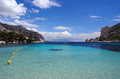 Calanques of port pin in cassis in france Royalty Free Stock Photography