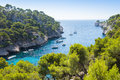 Calanques of port pin in cassis france Stock Photography
