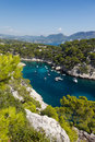 Calanques of port pin in cassis france Stock Images