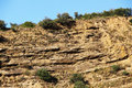 Calcareous sedimentary rock sicily a front view of a from madonie mount landscape cut Royalty Free Stock Image