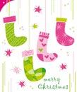 Calcetines de la Navidad Imagen de archivo libre de regalías