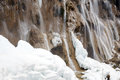 Calcified waterfall in jiuzhaigou Royalty Free Stock Photography