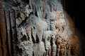 Calcite dripping at mystic caverns harrison arkansas Stock Image