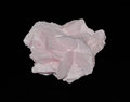 Calcite manganese in pink crystals Stock Photo