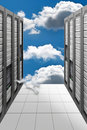 Calcul de nuage - Datacenter Images stock