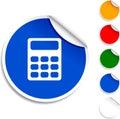 Calculate  icon. Stock Photo