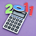Calculating 2011 Royalty Free Stock Photo