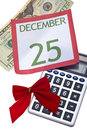 Calculating the Cost of the Holidays Royalty Free Stock Photos