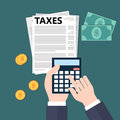 Calculating taxes Royalty Free Stock Photo