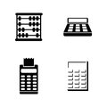 Calculation. Simple Related Vector Icons