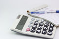 Calculator with bill Royalty Free Stock Photography