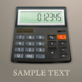 Calculator on brown background vector illustration Royalty Free Stock Photography