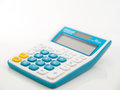 Calculator for calculate easy mathematic and life style Royalty Free Stock Images