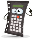 Calculator character illustration of a cartoon school black for accounting and mathematics Royalty Free Stock Photo