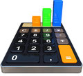 Calculator d illustration of a calculation concept Stock Photography
