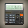 Calculator on dark background vector illustration Royalty Free Stock Photo