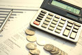 Calculator and documents Royalty Free Stock Photo